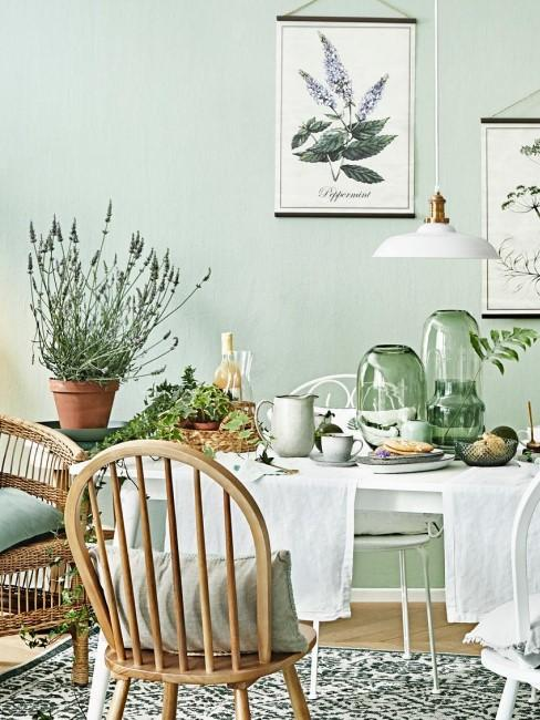 cocina en verde
