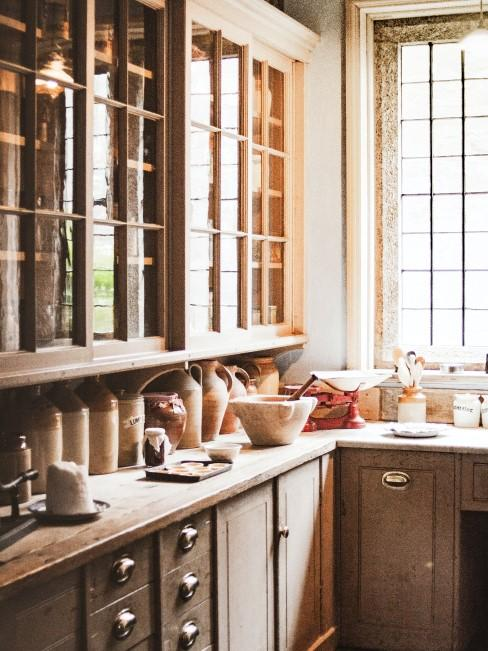 cocina de madera de pueblo