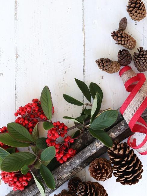 piñas y decoraciones de navidad