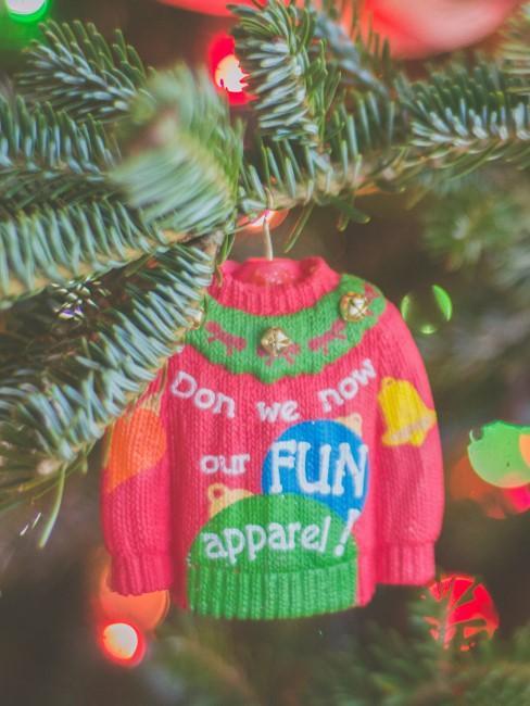 jersey navideño pequeño como adorno de pino de Navidad