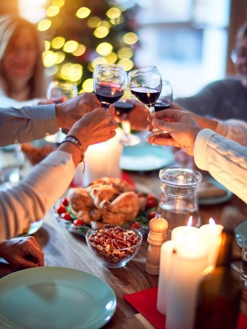 brindis en cena de navidad