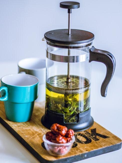 té verde en cafetera