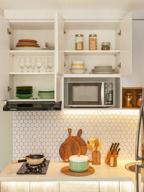microondas en cocina