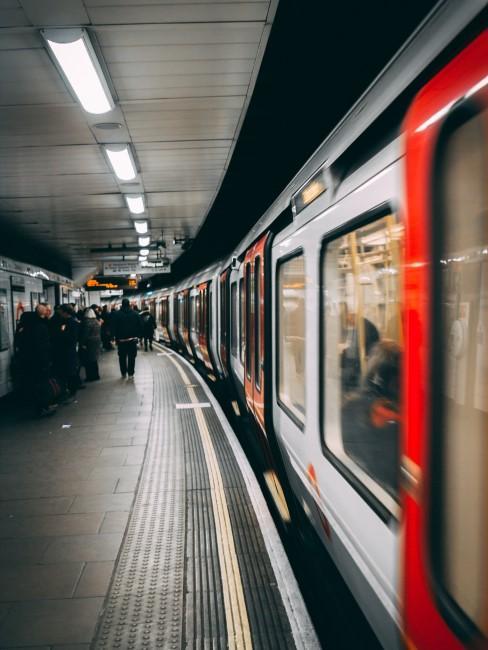 metro en la estación