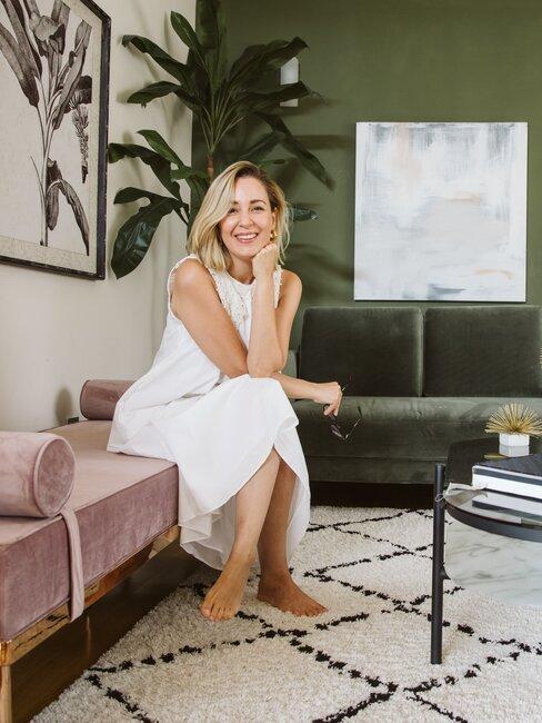 Priscila Betancort en su salon