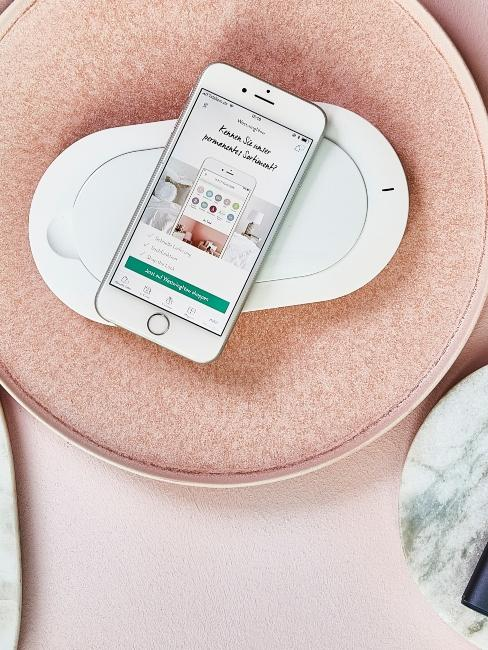 Chargeur sans fil blanc design