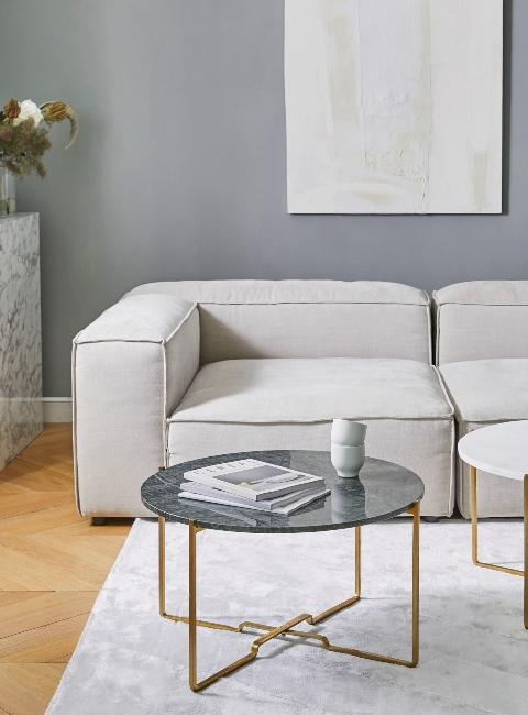 table basse rond en marbre