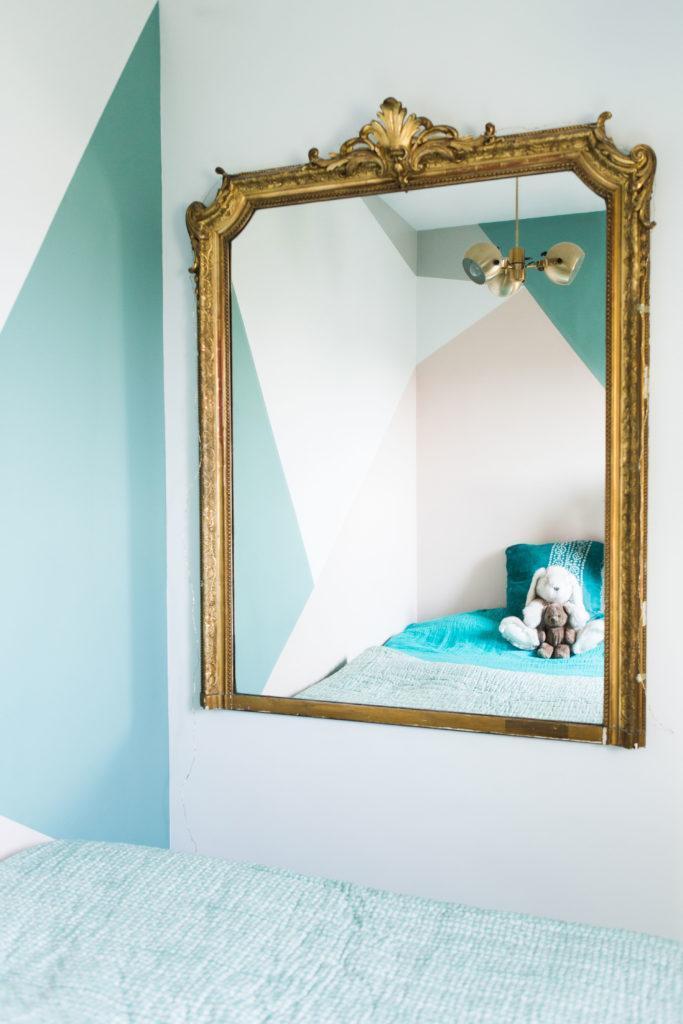 Miroir style baroque doré