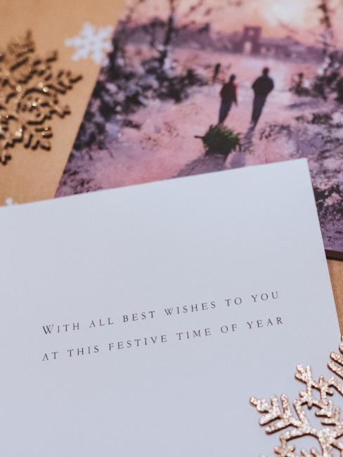 Carte de vœux de nouvelle année en papier