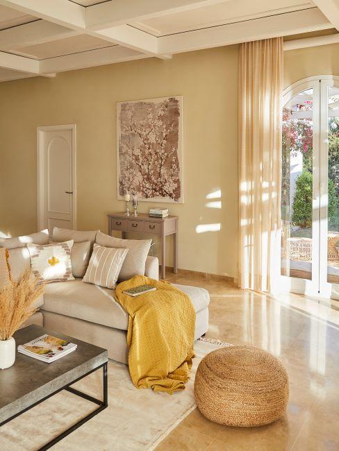 abbinamento colori pareti beige