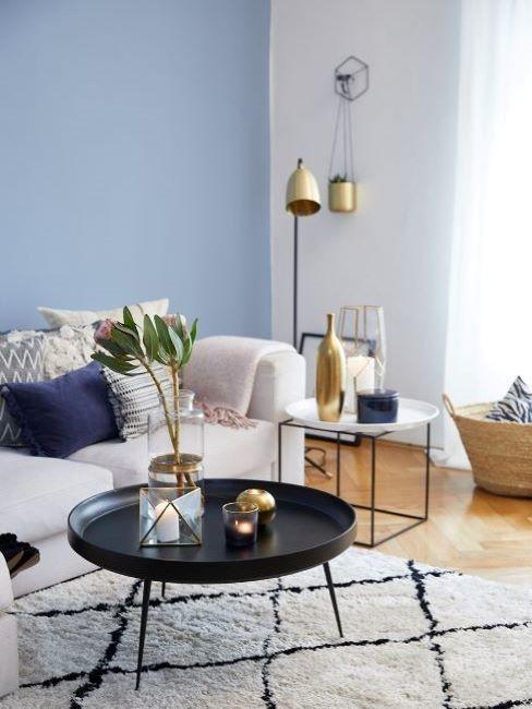 colori pareti soggiorno blu