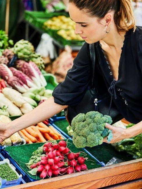 verdure invernali al mercato