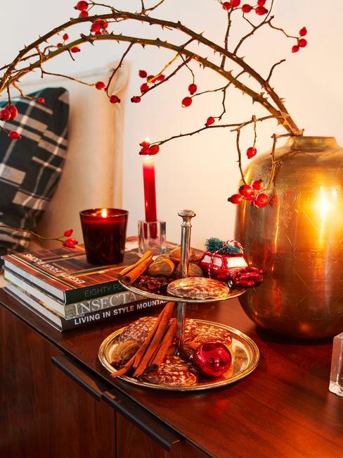 Kerstdecoratie in de slaapkamer