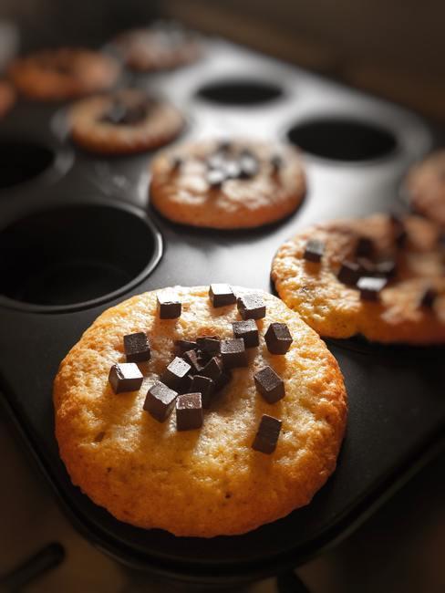 Oven schoonmaken: muffins met chocolade