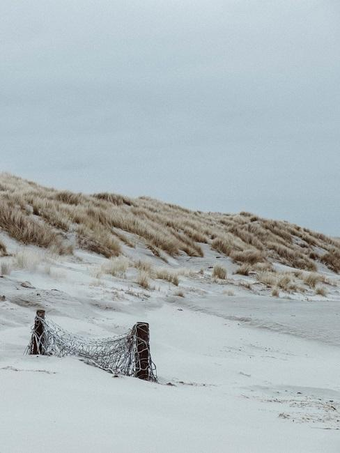 duinenlandschap met wit zand