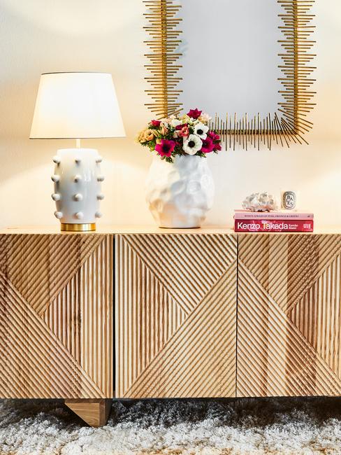 Meble do salonu w stylu rustykalnym z drewna