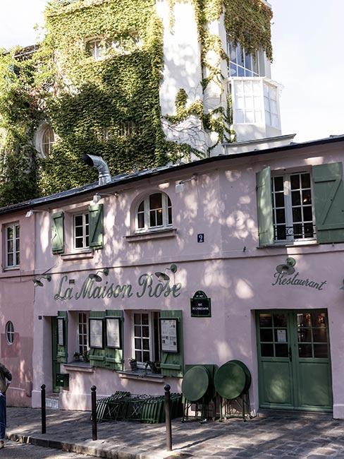 Restauracja La Maison Rose w Montmartre w Paryżu