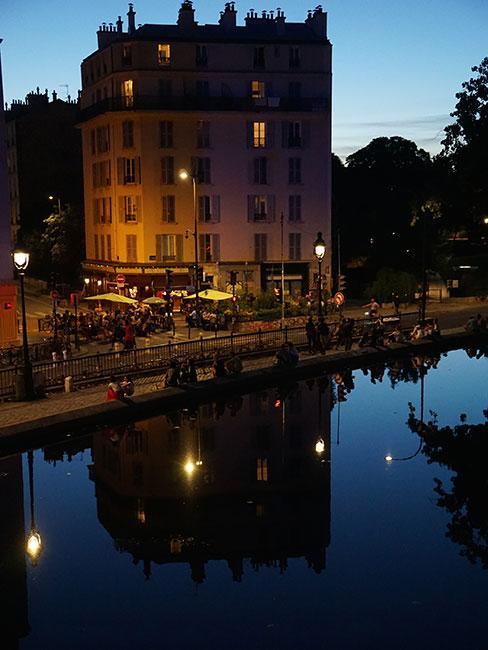 Canal Saint-Martin w Paryżu