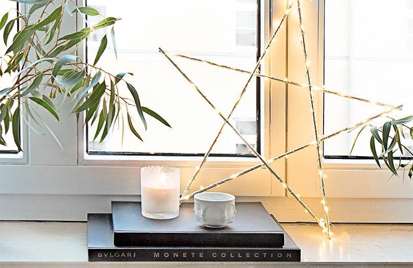 DIY weihnachtliches Sternenlicht