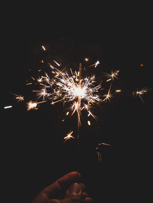 Bengala de celebración de año nuevo