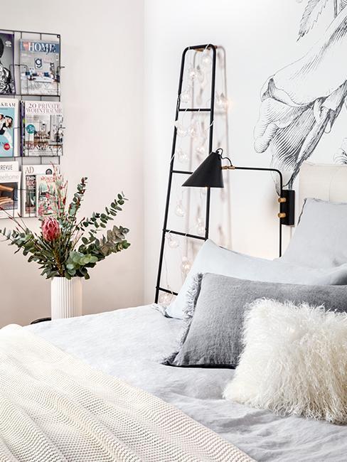 Nahaufnahme Bett von Susanne Heßlenberg im Skandi Stil