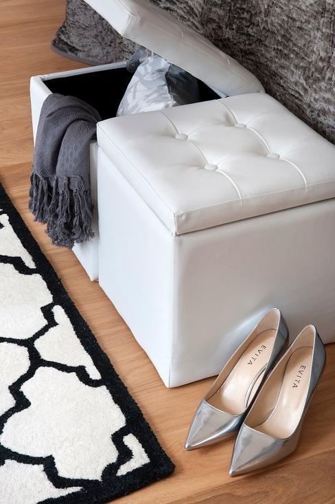 Boxen für die Schuhaufbewahrung im Schlafzimmer