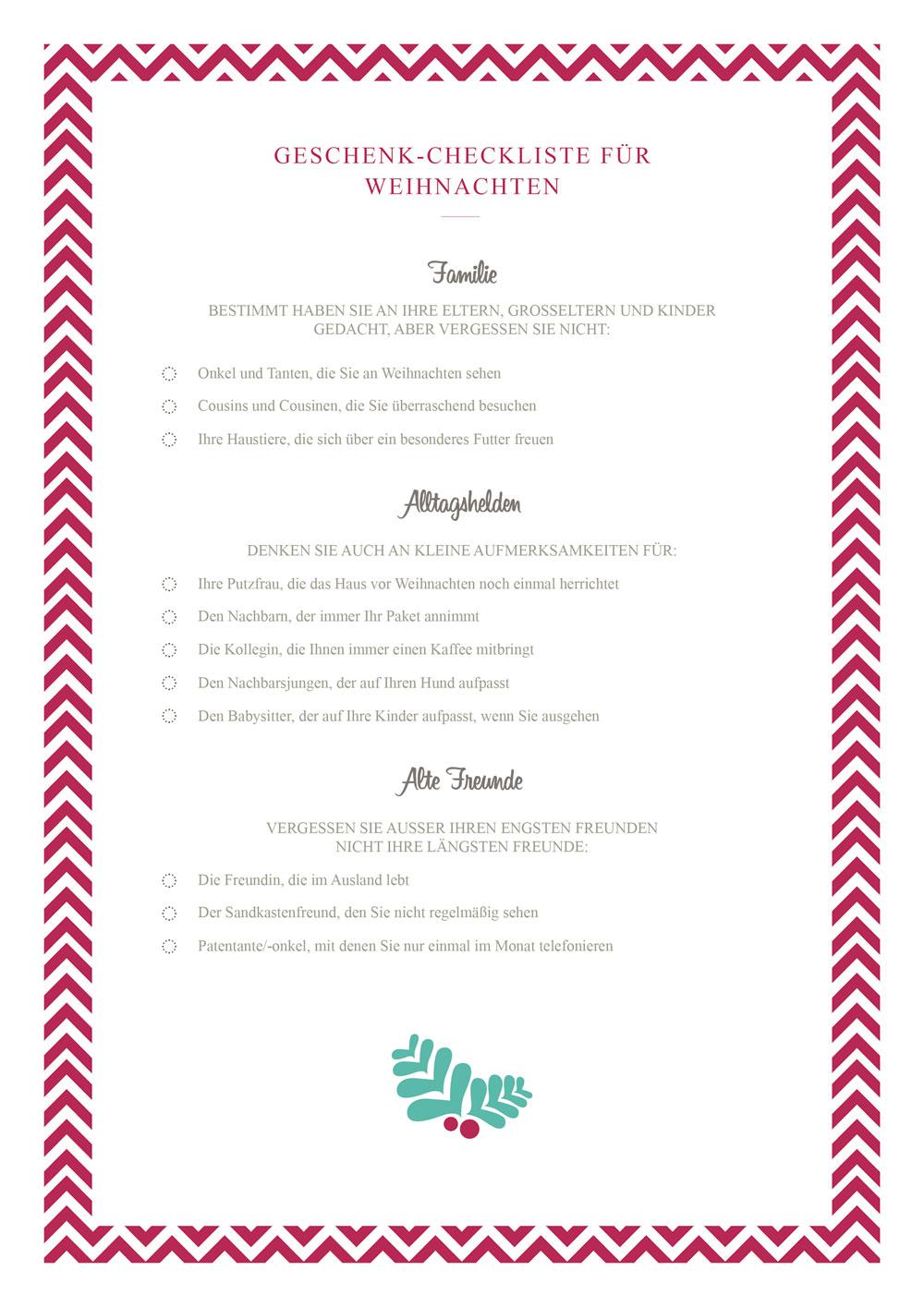 Geschenke-Checkliste für Weihnachten - Westwing Magazin