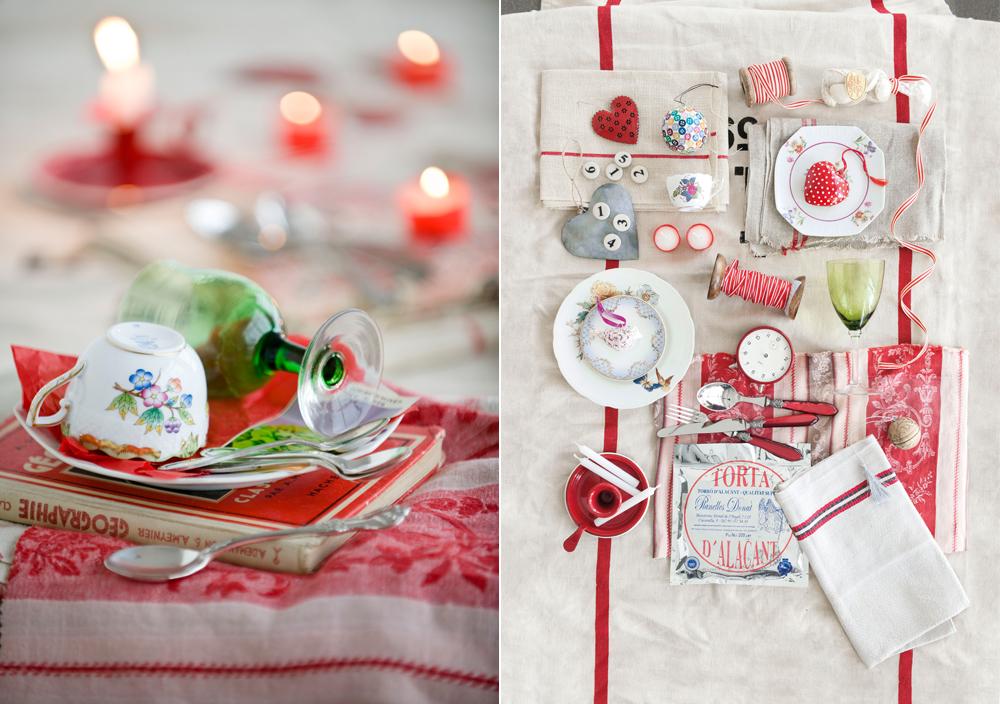 Weihnachtstafel deko rot