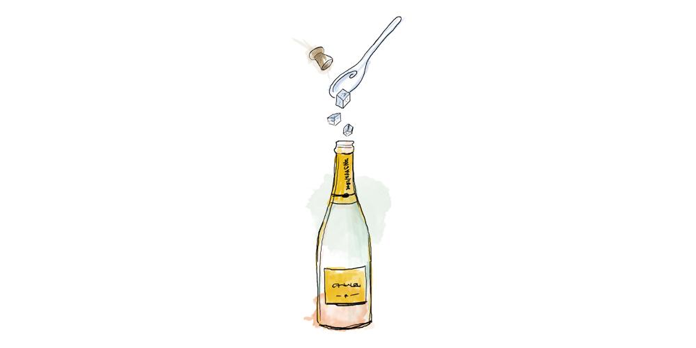 Champagner Flaschengärung