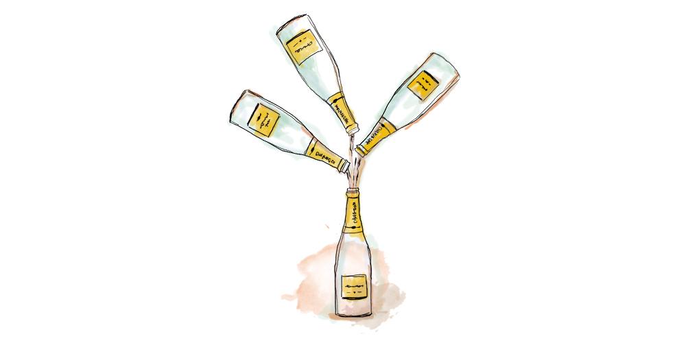 Champagner Assemblage