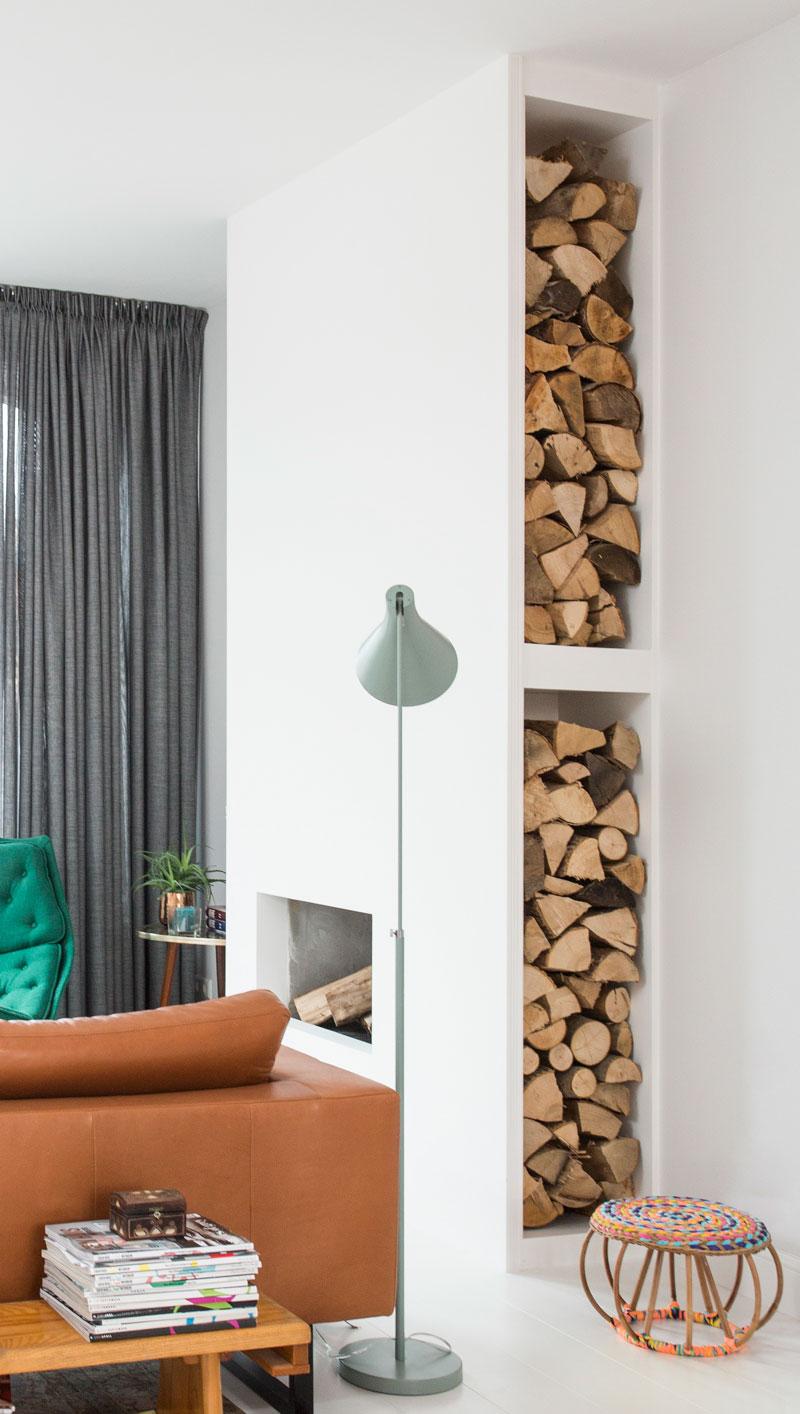 Odette Simons Kamin Holz Wohnzimmer