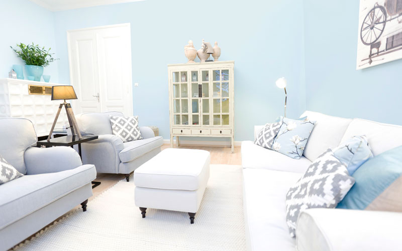 Cosy Nordic Hellblau Sofa