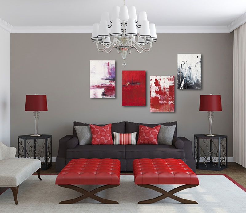 Petersburger Hängung Rot Wohnzimmer