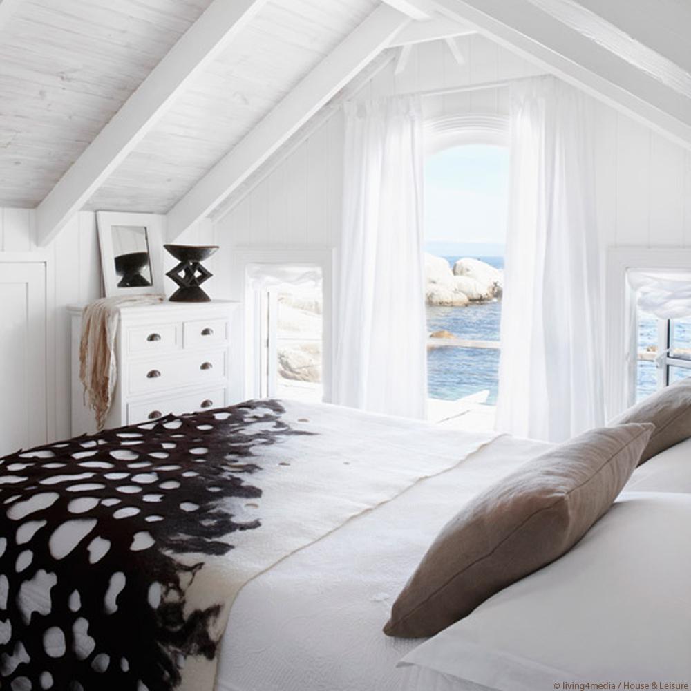 Schlafzimmer Bett Ausblick