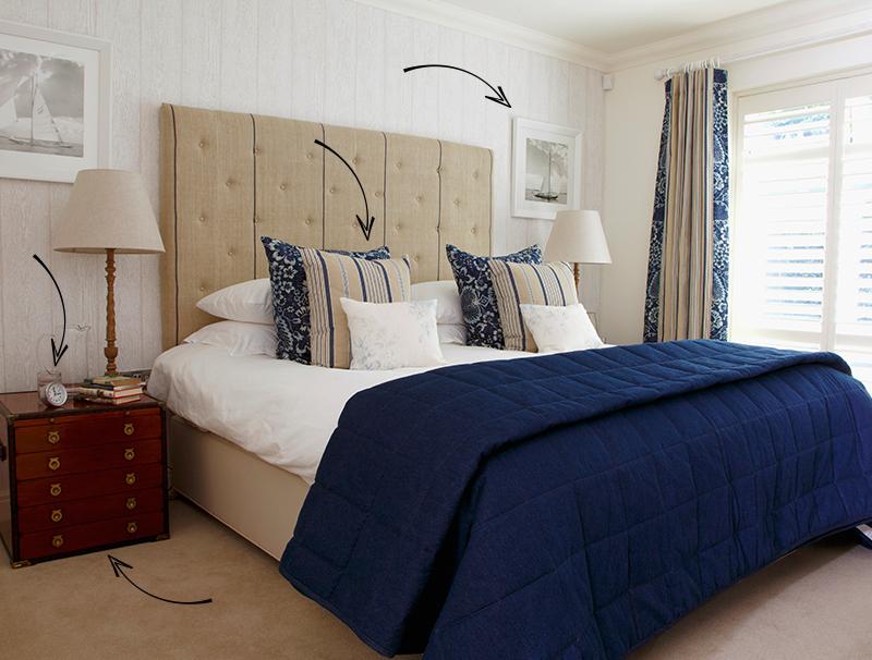 Strandhaus-Charme: Schlafzimmer