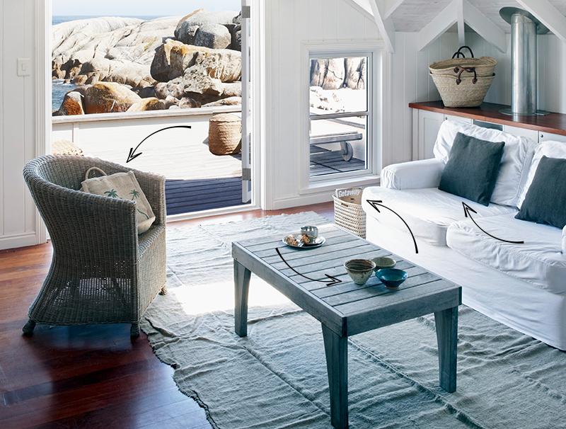 Strandhaus-Charme: Wohnzimmer