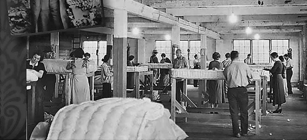 historie výroby kontinentálních postelí