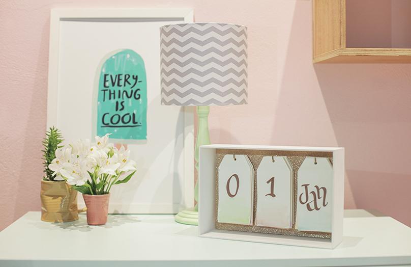 DIY: Stolní kalendář