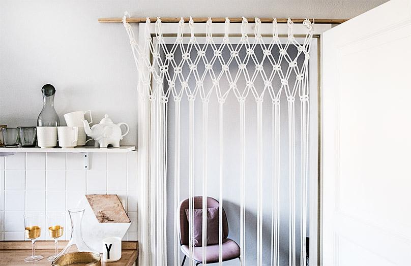 DIY: Macramé závěs do dveří