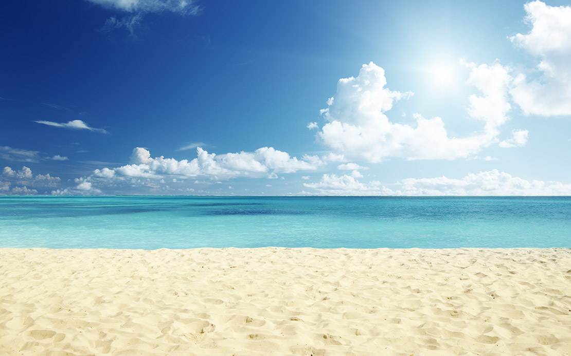 sv. bartoloměj pláž s bílým pískem
