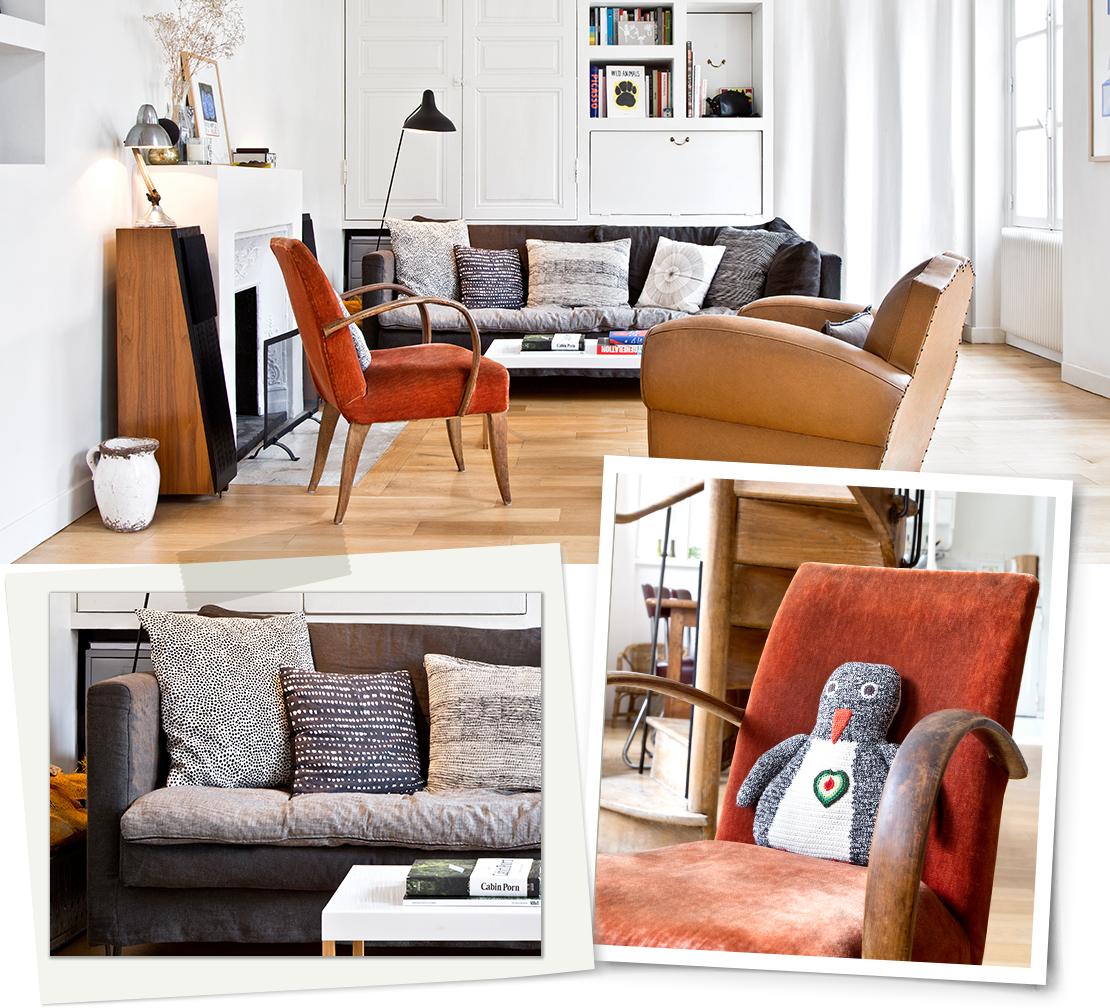 vintage bydlení obývací pokoj