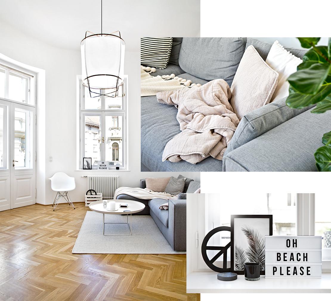 severský desing obývací pokoj