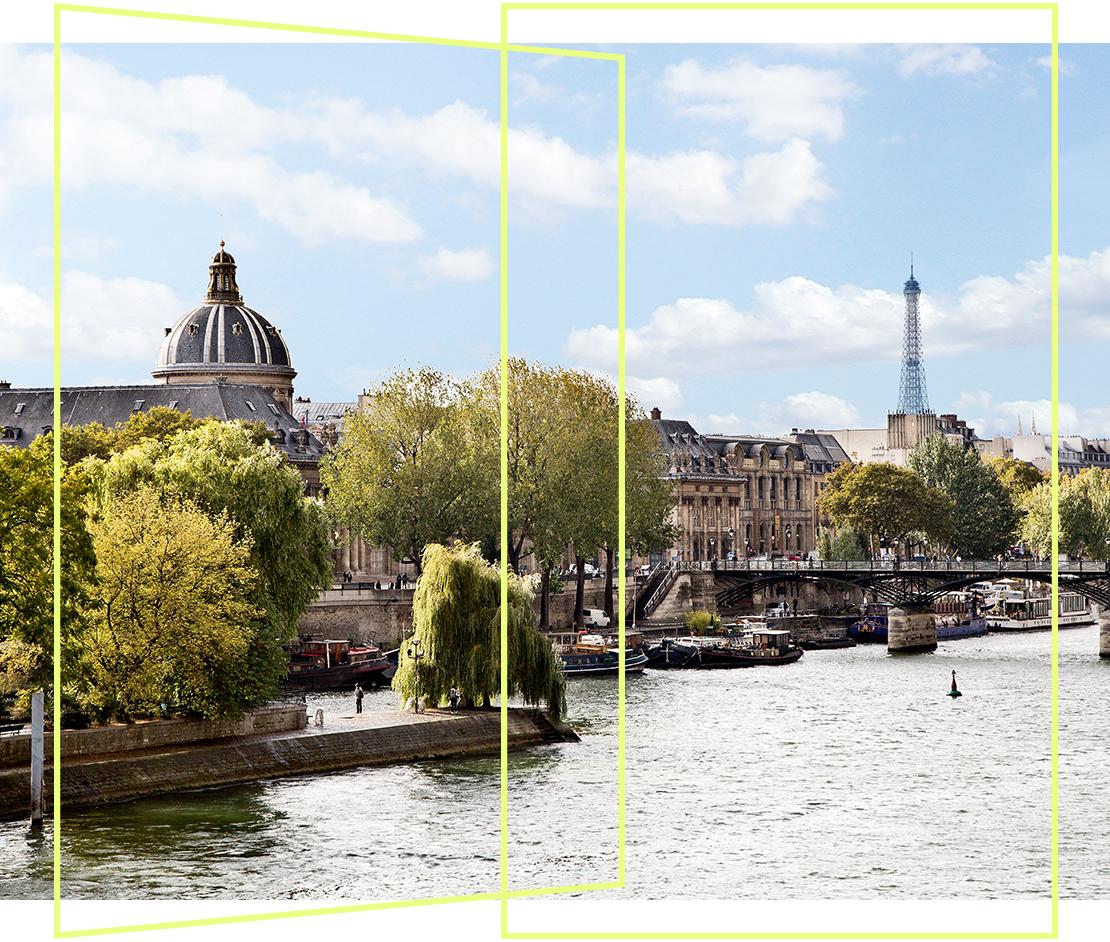 barevný interiér paříž