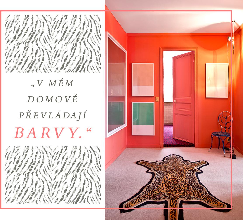 barevný interiér zvířecí motivy