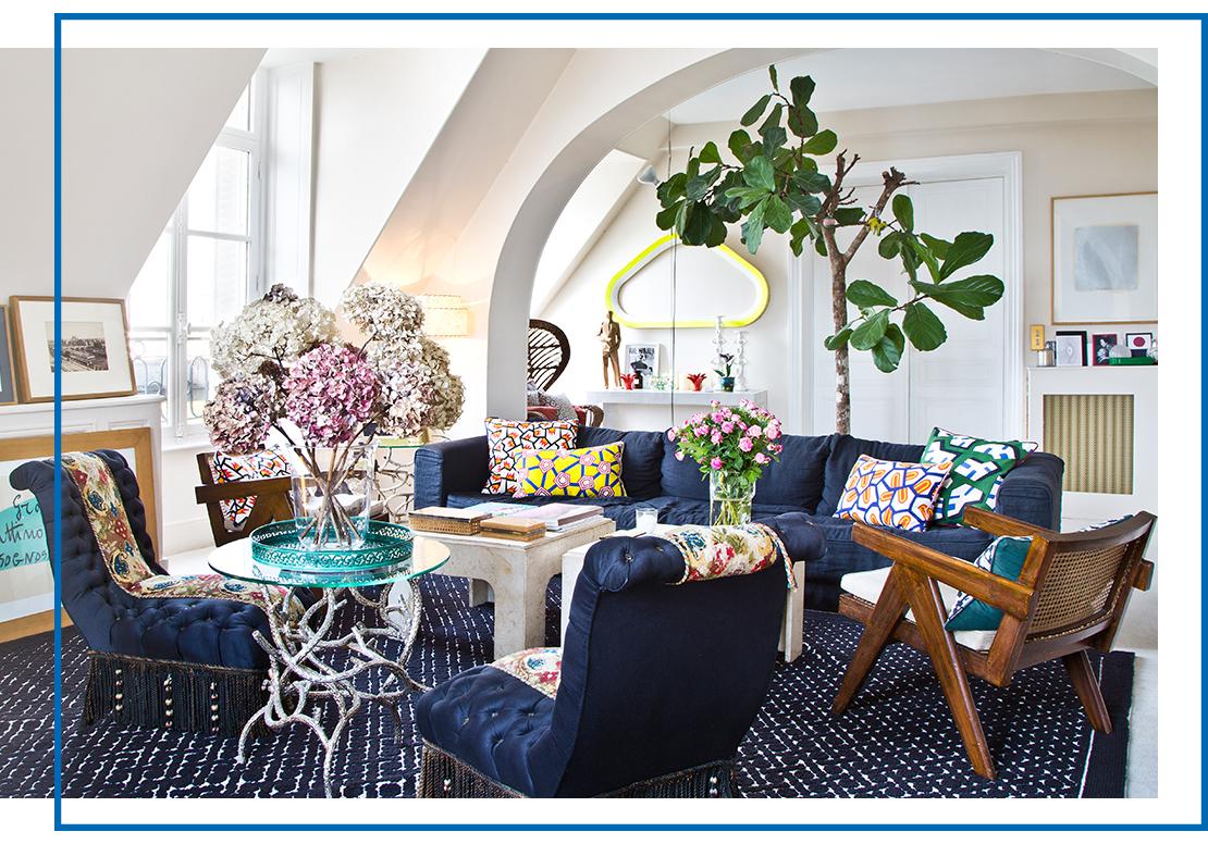 eklektický styl obývací pokoj