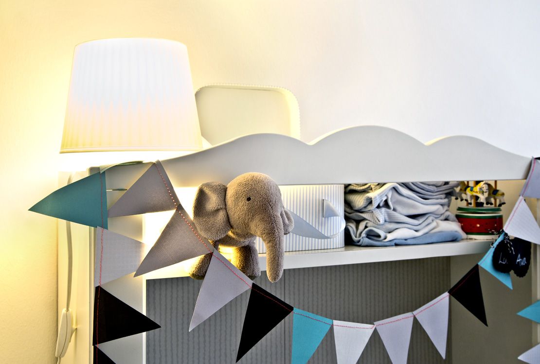 skandinávský dětský pokoj přebalovací pult