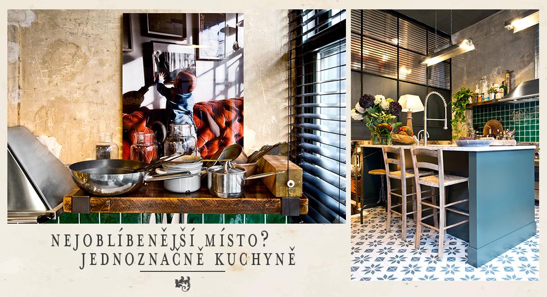 kuchyně v industriálním stylu