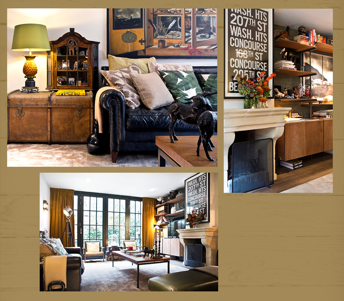 obývací pokoj v koloniálním stylu