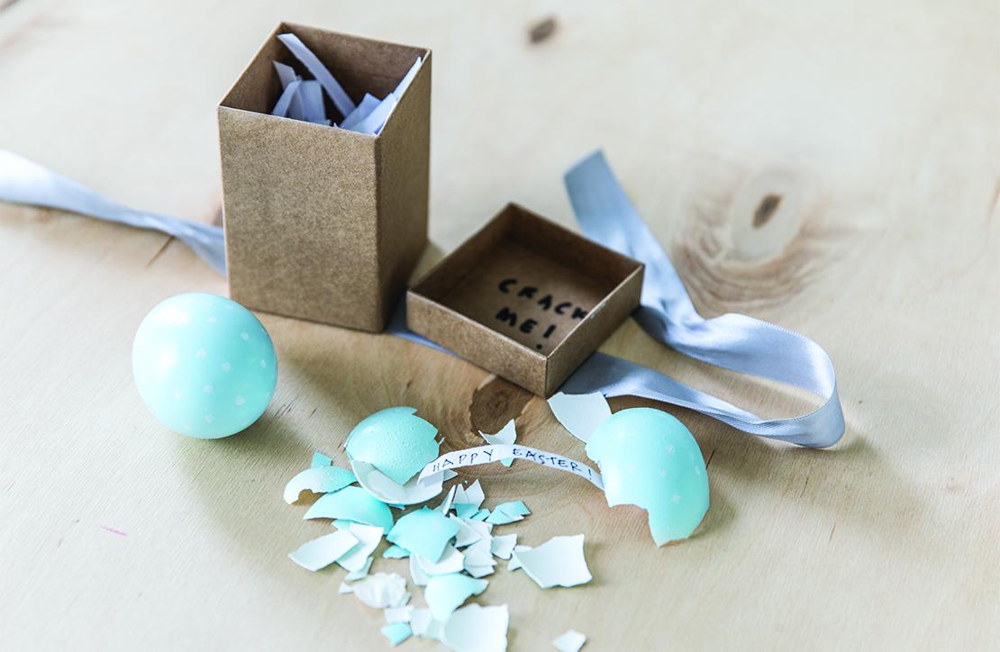 originální velikonoční přání ve vajíčku výroba