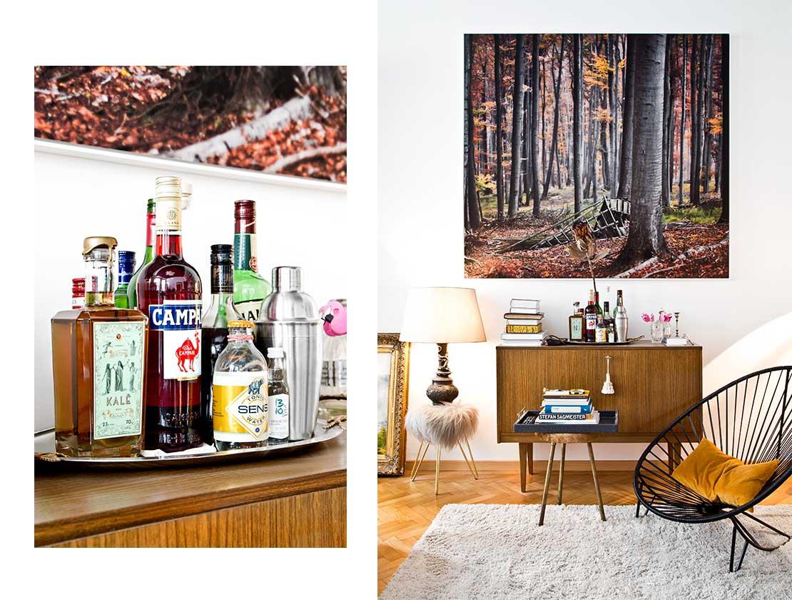 eklektický styl retro nábytek